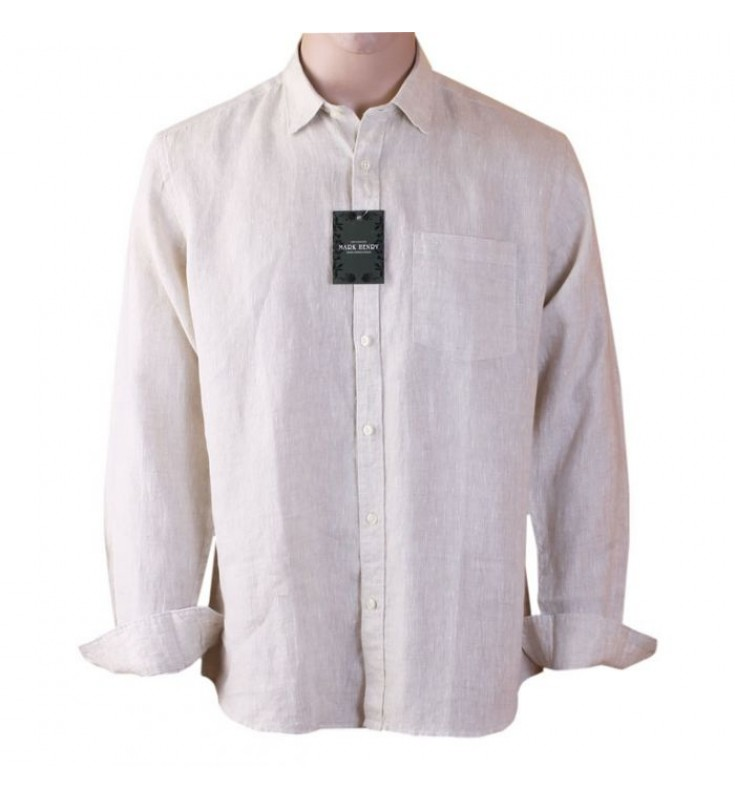 Mark Henry Linen Shirt- Cream Color