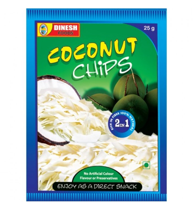 Coconut Chips 25gm x 10nos