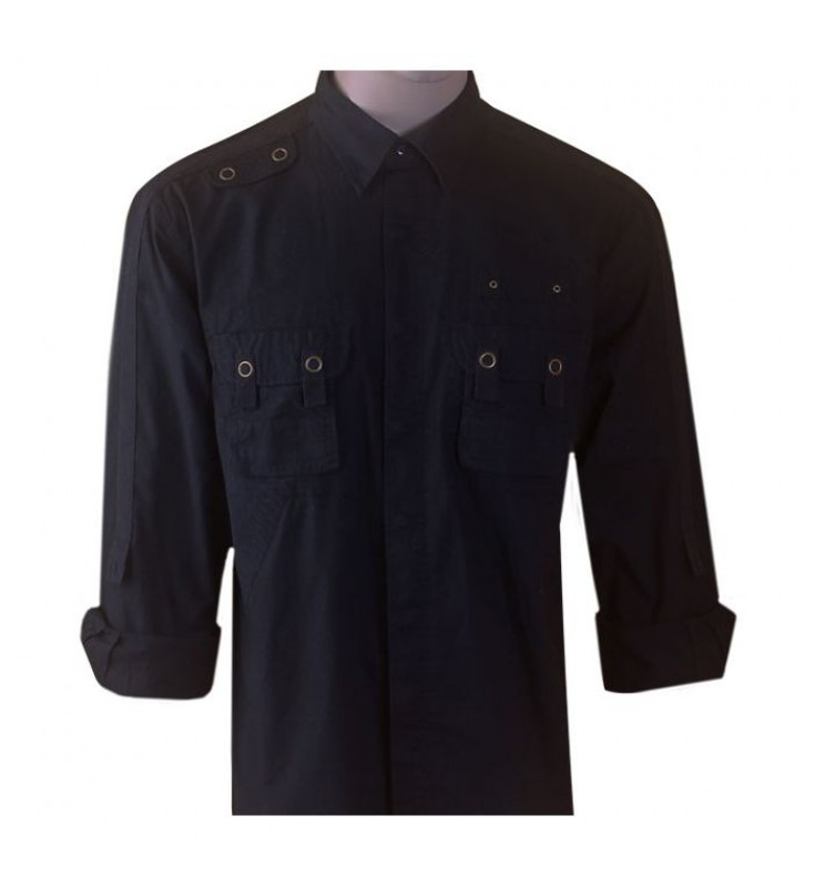 B-Express Cotton Black Shirts