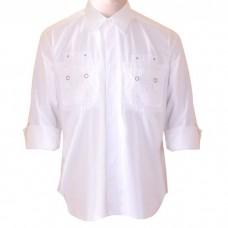B- Express Cotton White Shirt