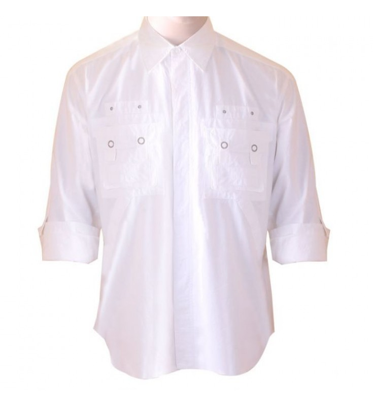 B- Express Cotton White Shirt