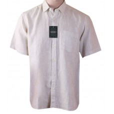 Mark Henry Light Cream Half Sleeve shirt