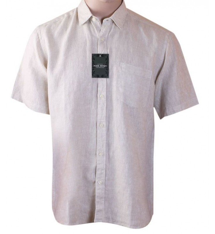 Mark Henry Light Cream Half Sleeve shirt